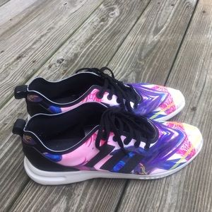 Colorful adidas Zx flux smooth women's sneakers